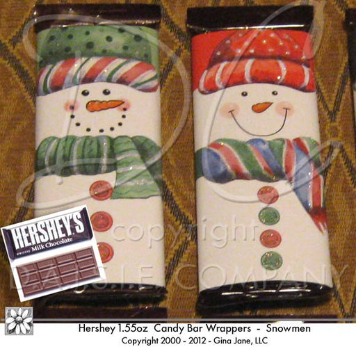 Snowman Face Hershey Candy Wrappers  Gina Jane    Mygrafico