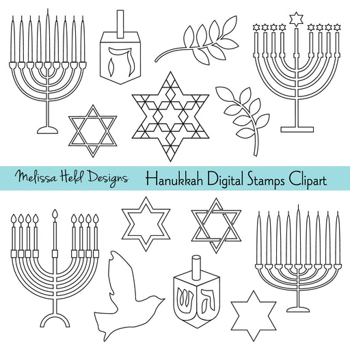 Hanukkah digital Stamps Clipart Digital Stamps Melissa Held Designs    Mygrafico