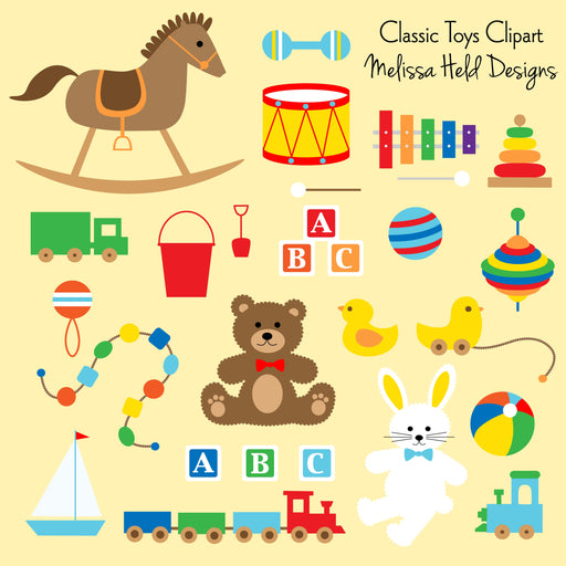 Children's Classic Toys Clipart Cliparts Melissa Held Designs    Mygrafico