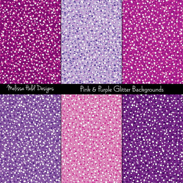 Pink and Purple Glitter Backgrounds Digital Paper & Backgrounds Melissa Held Designs    Mygrafico