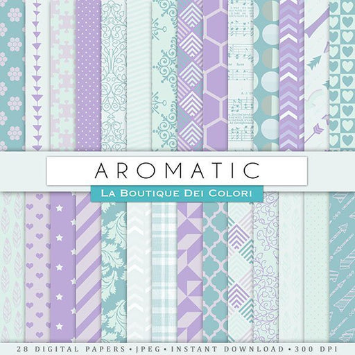 Aromatic Digital Papers Digital Paper & Backgrounds La Boutique Dei Colori    Mygrafico