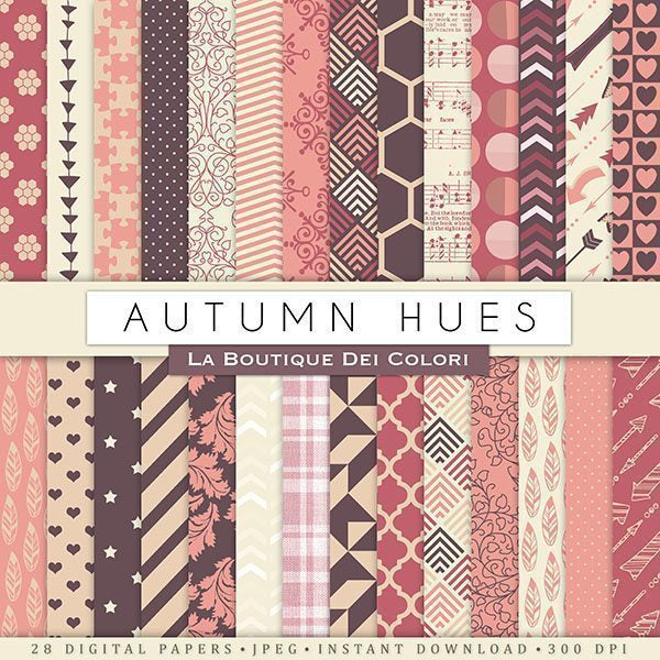 Autumn Hues Autumn Papers Digital Paper & Backgrounds La Boutique Dei Colori    Mygrafico