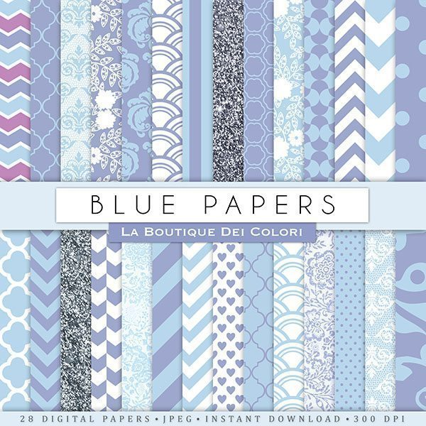 Pastel Blue Digital Paper  La Boutique Dei Colori    Mygrafico