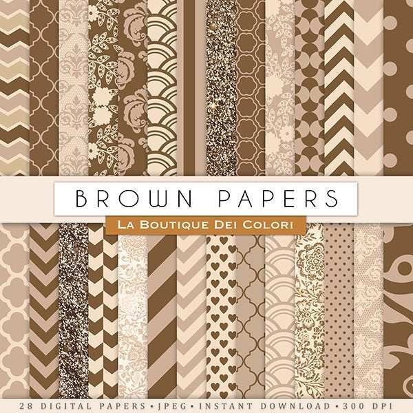 Brown Digital Paper  La Boutique Dei Colori    Mygrafico