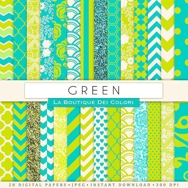 Green Digital Paper  La Boutique Dei Colori    Mygrafico
