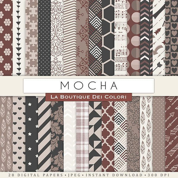 Mocha Digital Paper  La Boutique Dei Colori    Mygrafico