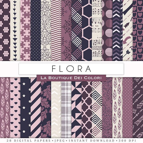 Flora Digital Paper Digital Papers & Backgrounds La Boutique Dei Colori    Mygrafico