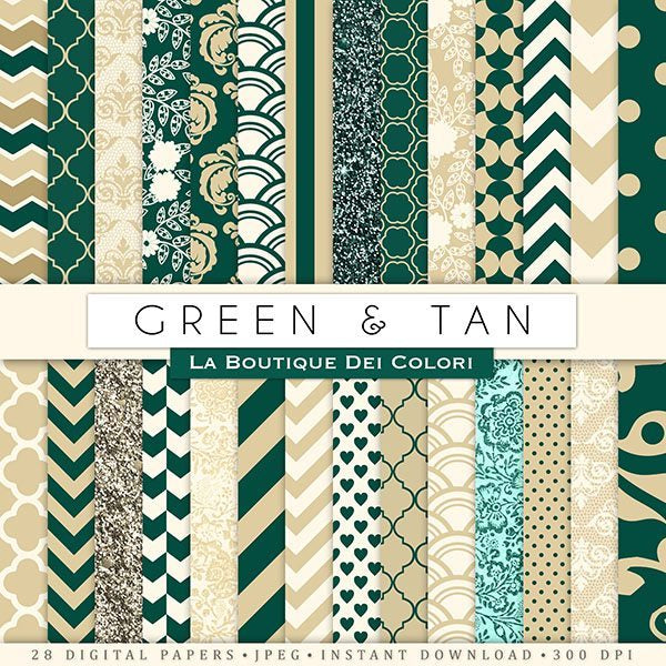 Green and tan Digital Paper Digital Papers & Backgrounds La Boutique Dei Colori    Mygrafico