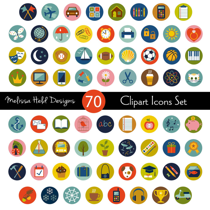 Clipart Icons Set Cliparts Melissa Held Designs    Mygrafico