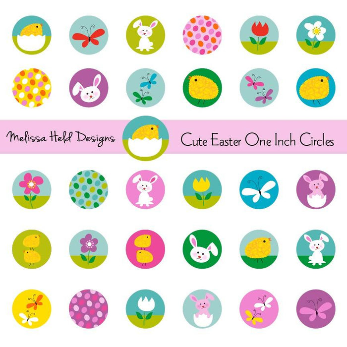 Cute Easter One Inch Circles Clipart Cliparts Melissa Held Designs    Mygrafico