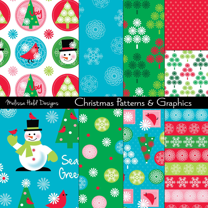 Christmas Digital Patterns and Graphics