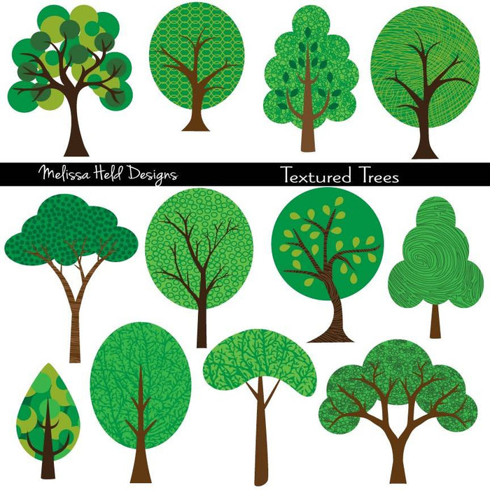 Textured Trees Cliparts Melissa Held Designs    Mygrafico