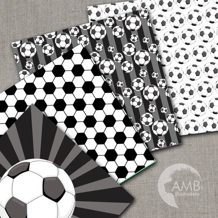 Sports Digital Paper, Soccer Papers and Backgrounds, Football Digital Papers, Soccer Scrapbook Papers, Commercial Use, AMB-1964 Digital Paper & Backgrounds AMBillustrations    Mygrafico