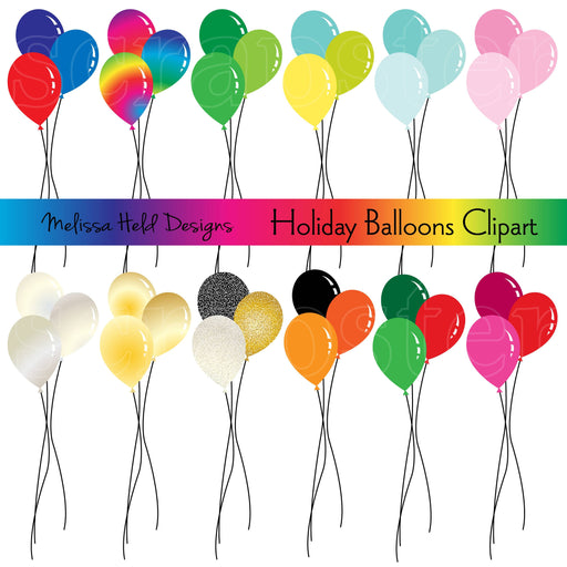 Holiday Balloons Clipart Cliparts Melissa Held Designs    Mygrafico
