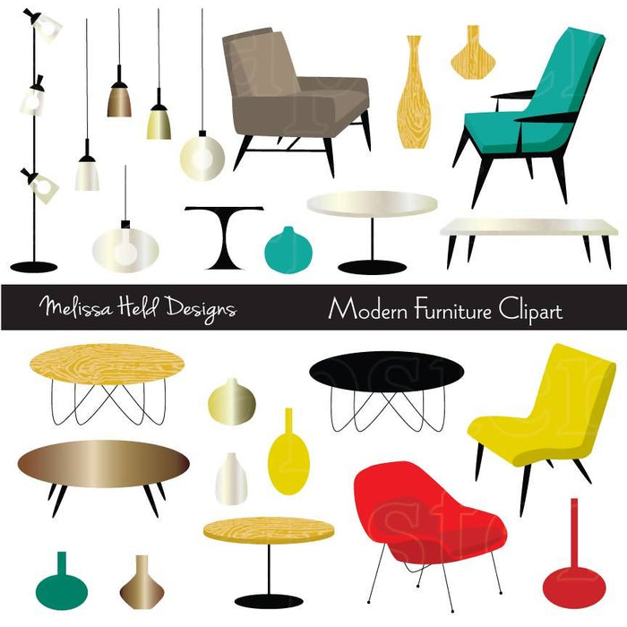 Modern Furniture Clipart Cliparts Melissa Held Designs    Mygrafico