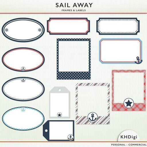 Sail Away Frames & Labels  KH Digi    Mygrafico