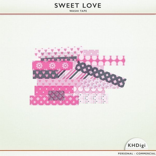 Sweet Love Washi Tape  KH Digi    Mygrafico