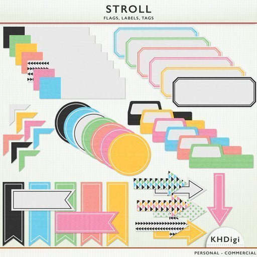 Stroll Flags, Labels and Tags  KH Digi    Mygrafico