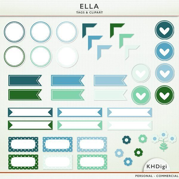 Ella - Tags and Clipart  KH Digi    Mygrafico