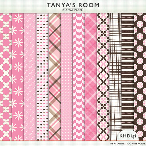 Tanya's Room Digital Paper Digital Papers & Backgrounds KH Digi    Mygrafico