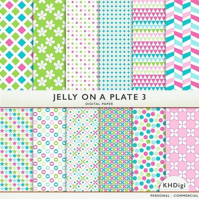 Jelly On A Plate 3 Digital Paper