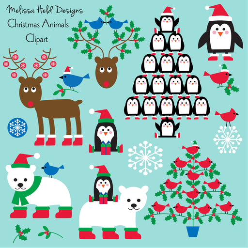 Christmas Animals Clipart Cliparts Melissa Held Designs    Mygrafico