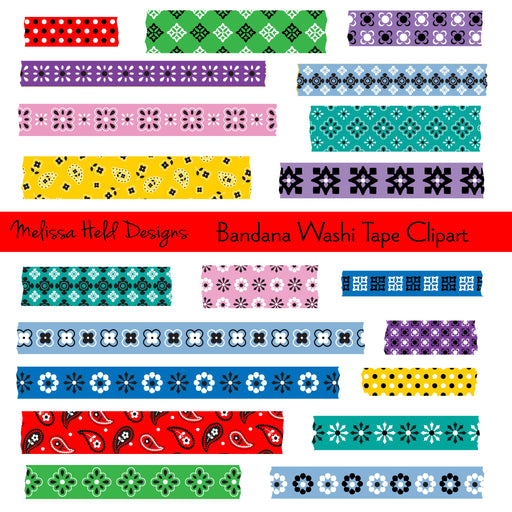 Bandana Washi Tape Clipart Cliparts Melissa Held Designs    Mygrafico