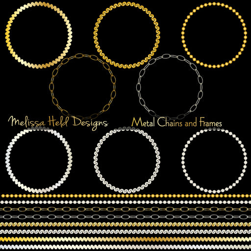 Metal Chains Frames and Borders Cliparts Melissa Held Designs    Mygrafico