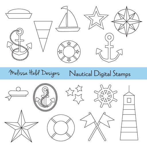 Nautical Digital Stamps Digital Stamps Melissa Held Designs    Mygrafico