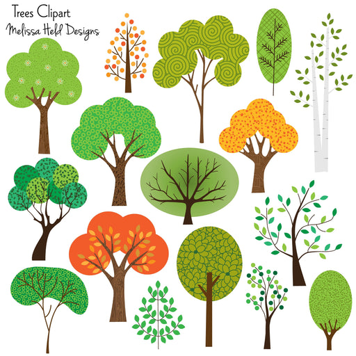 Trees Clipart Cliparts Melissa Held Designs    Mygrafico