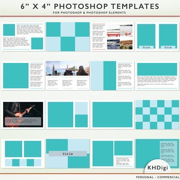 "Photoshop & Elements 6"" x 4"" Templates  KH Digi    Mygrafico"
