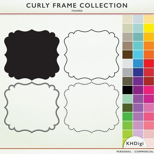 Curly Frame Collection  KH Digi    Mygrafico