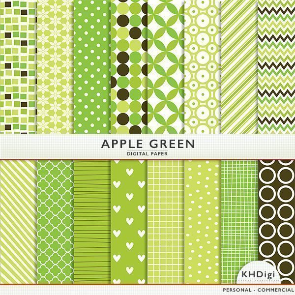 Apple Green Digital Paper  KH Digi    Mygrafico