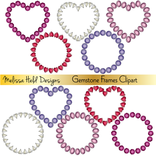 Gemstone Frames Clipart Cliparts Melissa Held Designs    Mygrafico