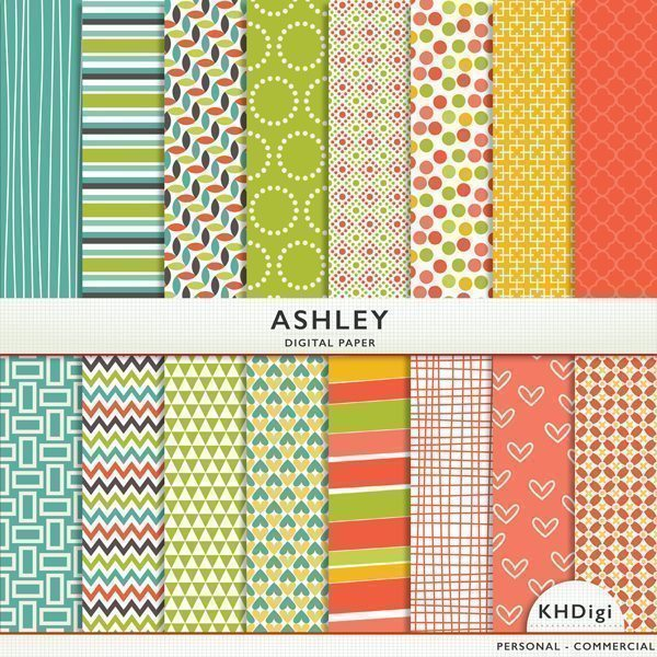 Ashley Digital Paper  KH Digi    Mygrafico