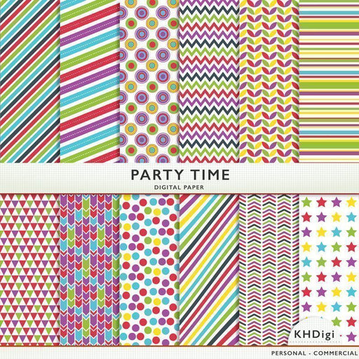 Party Time Digital Paper  KH Digi    Mygrafico