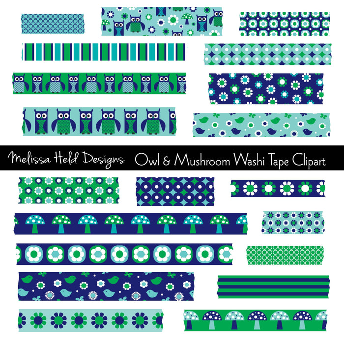 Owl and Mushroom Washi Tape Clipart Cliparts Melissa Held Designs    Mygrafico