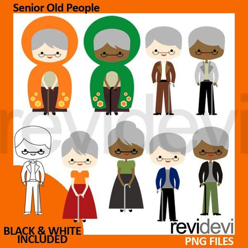 Senior old people, grandparents clipart Cliparts Revidevi    Mygrafico