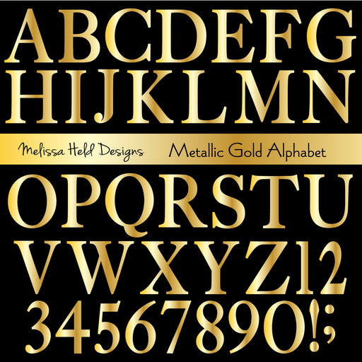 Metallic Gold Alphabet Cliparts Melissa Held Designs    Mygrafico