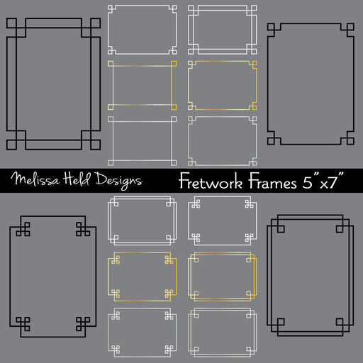 "Fretwork Frames 5"" x 7"" Cliparts Melissa Held Designs    Mygrafico"