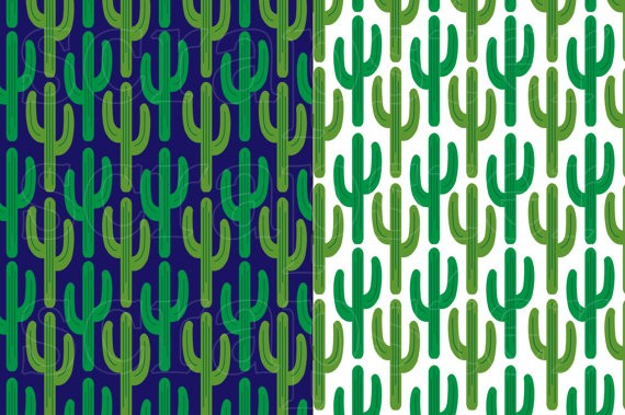 Cactus Patterns Digital Paper & Backgrounds Melissa Held Designs    Mygrafico