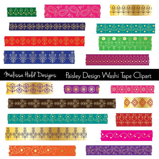 Paisley Design Washi Tape Clipart Cliparts Melissa Held Designs    Mygrafico