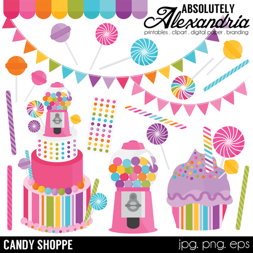 Candy Shoppe Digital Clipart Cliparts Absolutely Alexandria    Mygrafico