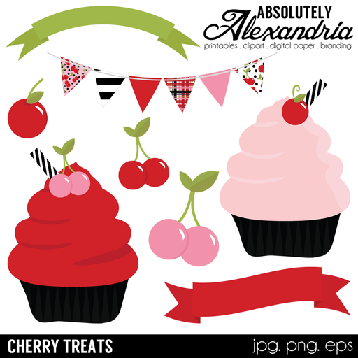 Cherry Treats Digital Clipart Graphics  Absolutely Alexandria    Mygrafico