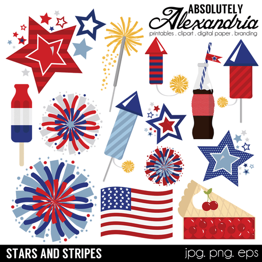 Stars & Stripes Digital Clipart Graphics Clipart Absolutely Alexandria    Mygrafico