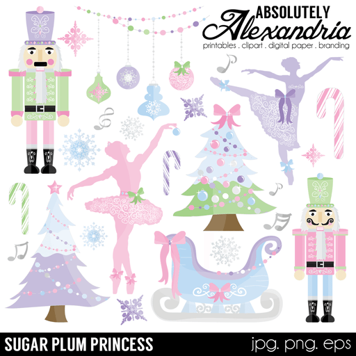 Sugar Plum Princess Digital Clipart Graphics  Absolutely Alexandria    Mygrafico