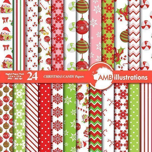 Christmas Digital papers  AMBillustrations    Mygrafico