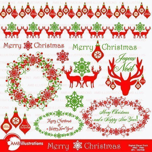 Christmas traditional papers  AMBillustrations    Mygrafico