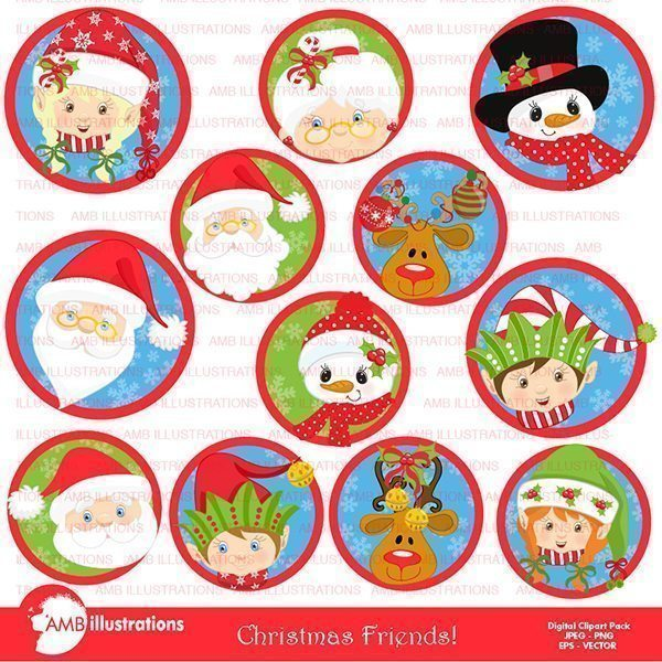 Christmas Friends Pack  AMBillustrations    Mygrafico