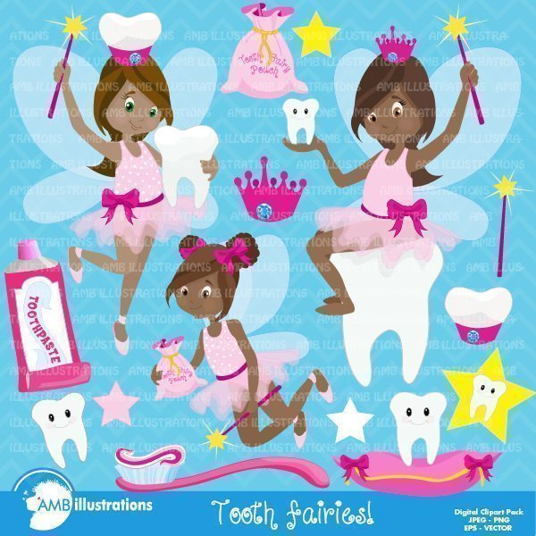 Toothfairy clipart pack  AMBillustrations    Mygrafico